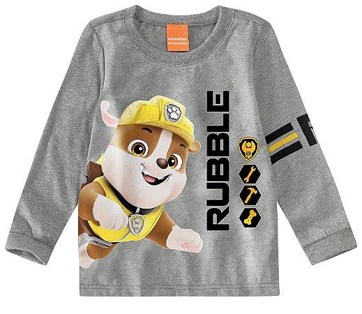 Blusa Patrulha Canina Rubble - Cinza - Malwee