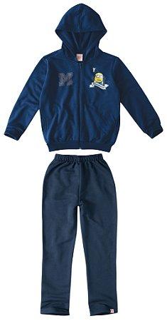 Conjunto de Jaqueta e Calça de Moletom  - Minions - Azul Marinho - Malwee