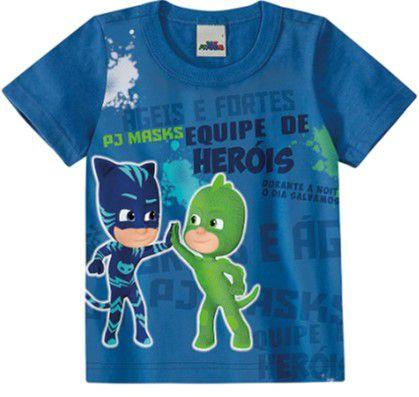 Camiseta PJ Masks - Azul - Malwee