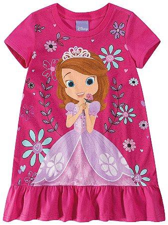 Vestido Infantil Princesa Sofia Disney - Rosa - Malwee