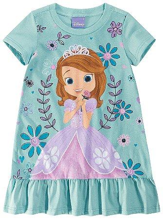 Vestido da Princesa Sofia - Verde Água - Malwee