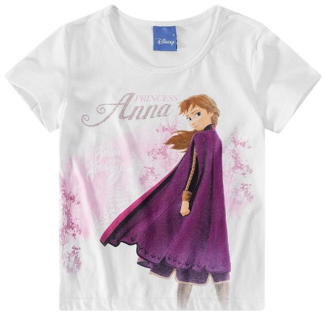 Blusa da Princesa Anna - Frozen 2 - Disney - Branca - Malwee