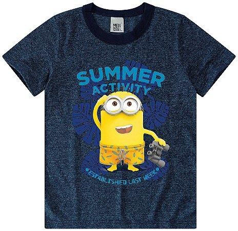 Camiseta Minions - Azul Washed - Meu Malvado Favorito - Malwee