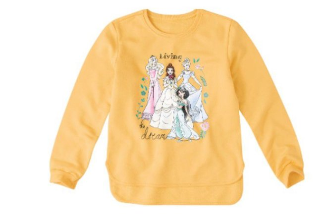 Moletom Felpado Princesas da Disney - Amarelo - Malwee