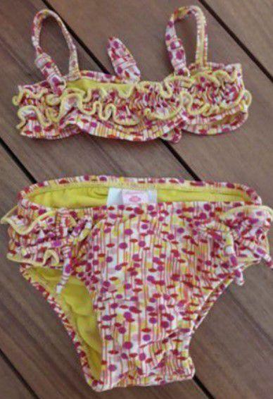 Biquini Bebê Menina Amarelo e Rosa - Lilica Ripilica Baby