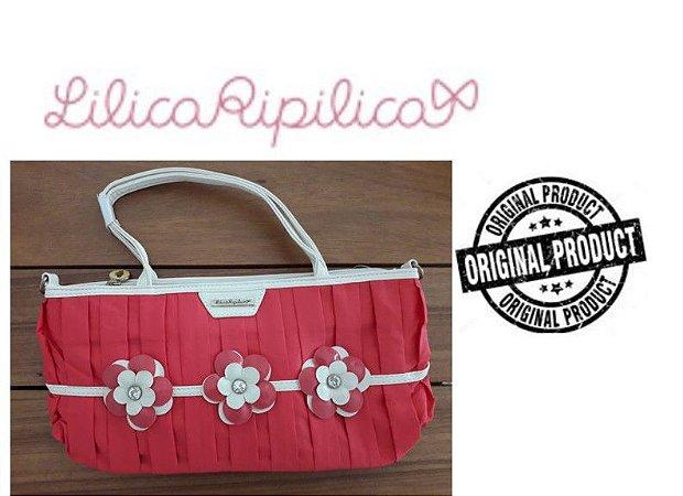Bolsa Lilica Ripilica - Flores - Vermelha