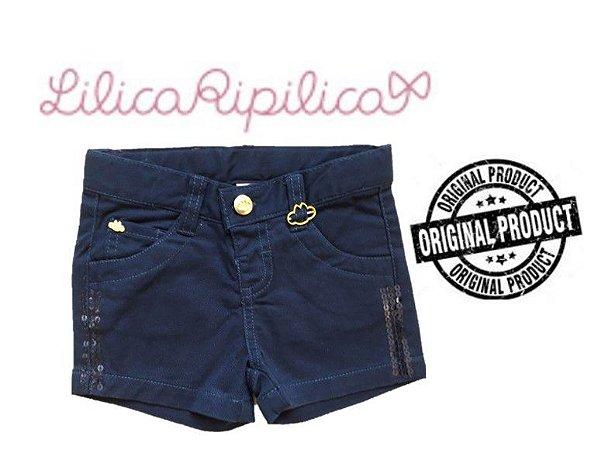 Shorts de Sarja Lilica Ripilica - Azul Marinho