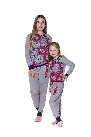 Pijama Moletinho Turma da Mônica - Coleção Mãe e Filha