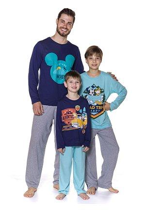 Pijama do Mickey Disney - Coleção Pai e Filho - Azul