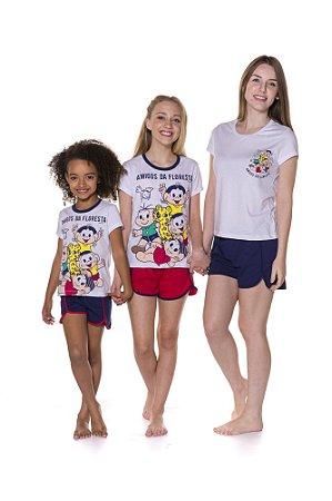Short Doll da Turma da Mônica - Coleção Mãe e Filha - Amigos da Floresta