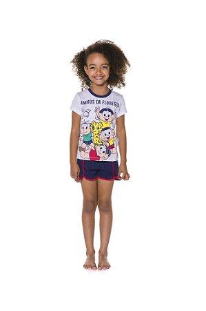 Pijama Short Doll da Turma da Mônica - Amigos da Floresta - Infantil