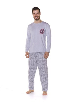 Pijama do Avengers - Marvel Adulto