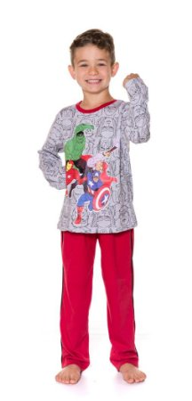 Pijama Avengers Marvel - Cinza e Vermelho