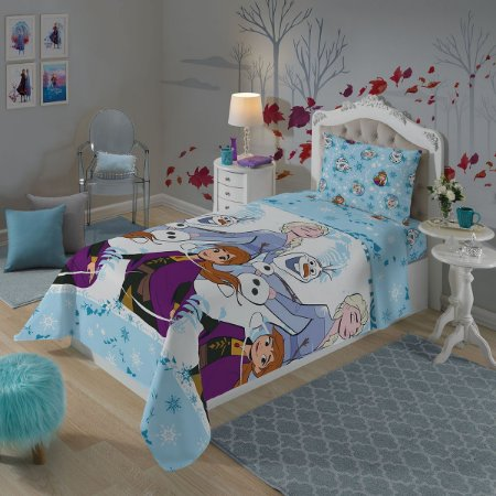 Jogo de Cama Frozen II Infantil 2 Peças Dupla Face -Azul - Lepper