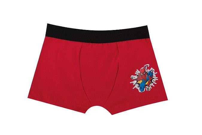 Cueca Boxer Homem Aranha - Vermelho - Infantil