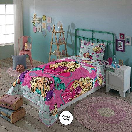 Edredom da Barbie Reinos Mágicos - Rosa - Lepper