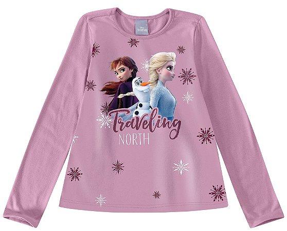 Blusa Lilás Frozen II - Disney - Malwee