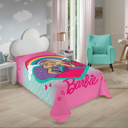 Manta da Barbie - Arco Íris