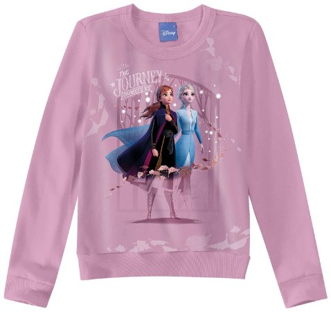 Moletom Felpado Frozen II Anna e Elsa - Disney - Lilás - Malwee