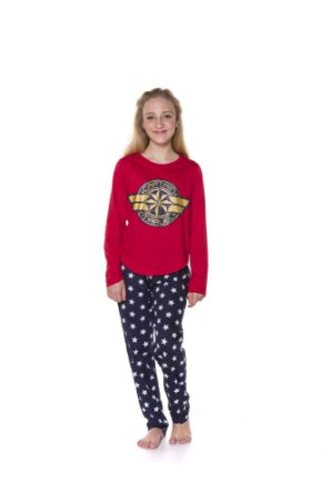 Pijama da Capitã Marvel - Juvenil