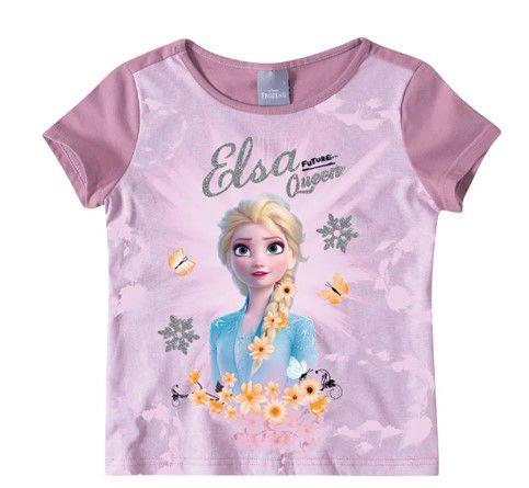 Blusa Frozen 2 Disney Rainha Elsa - Lilás - Malwee