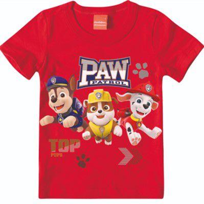 Camiseta Patrulha Canina - Vermelho