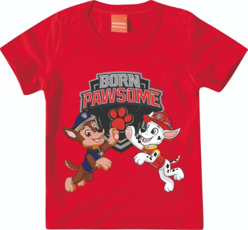 Camiseta Patrulha Canina Chase e Marshall - Vermelho - Malwee