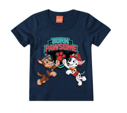 Camiseta da Patrulha Canina - Azul Marinho