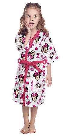 Roupão Felpudo Estampado Minnie - Disney