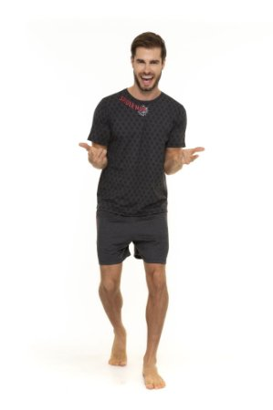 Pijama Adulto Homem Aranha  Marvel - Cinza