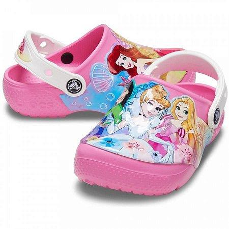 Crocs das Princesas Disney - Rosa Limonada