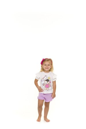 Pijama Short Doll da Mônica e Unicórnio - Primeiros Passos