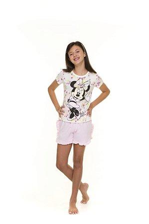 Pijama Short Doll Minnie - Disney - Juvenil