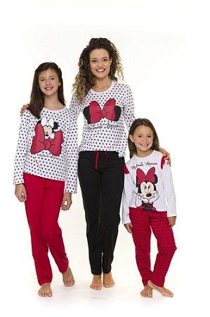 Pijama da Minnie- Disney - Coleção Mãe e Filha