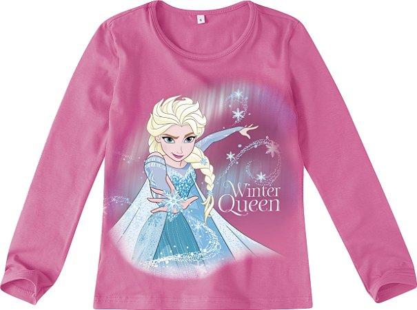 Blusa Rainha Elsa - Disney Frozen - Rosa - Malwee