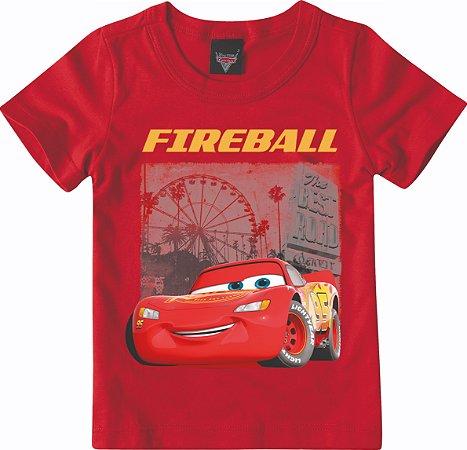 Camiseta Mcqueen Carros - Vermelha - Malwee