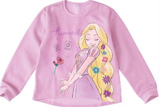 Moletom Felpado Princesa Rapunzel Disney - Salmão - Malwee