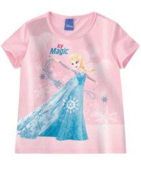 Blusa da Rainha Elsa - Disney Frozen - Rosa - Malwee