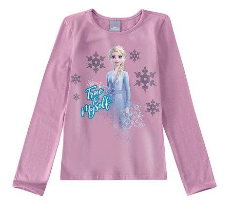 Blusa Rainha Elsa - Disney Frozen 2 - Lilás
