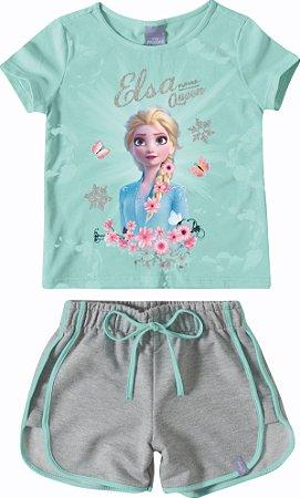 Conjunto de Blusa e Shorts - Rainha Elsa - Disney Frozen 2
