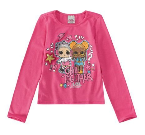 Blusa LOL Surprise - Rosa com Aplique - Malwee