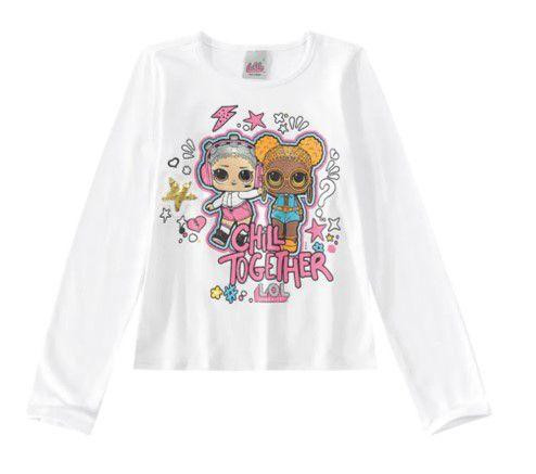 Blusa LOL Surprise - Branca com Aplique - Malwee