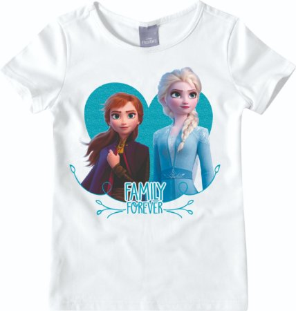 Blusa Infantil Elsa e Anna - Disney Frozen 2 - Branca - Malwee