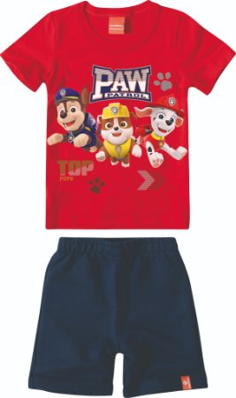 Conjunto Patrulha Canina - Vermelho e Azul - Malwee