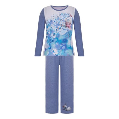 Pijama Infantil Rainha Elsa Disney Frozen - Azul - Lupo