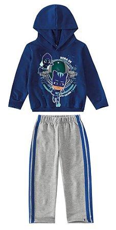 Conjunto Moletom PJ Masks - Blusa e Calça - Azul - Malwee