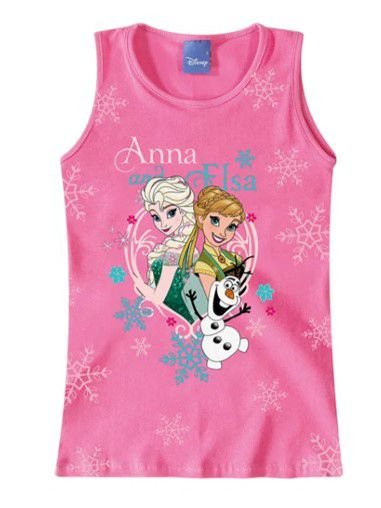 Blusa Elsa e Anna - Disney Frozen - Rosa