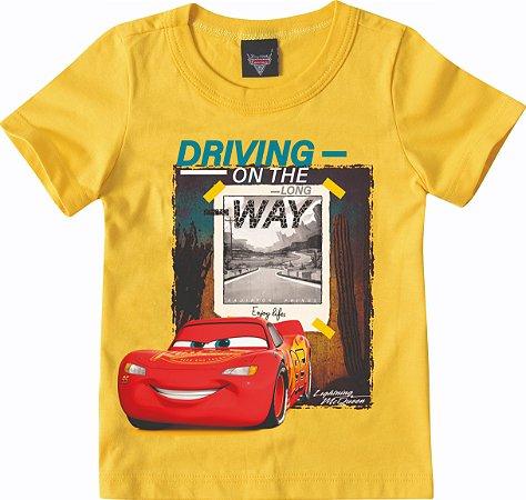 Camiseta Carros - Mcqueen - Amarelo