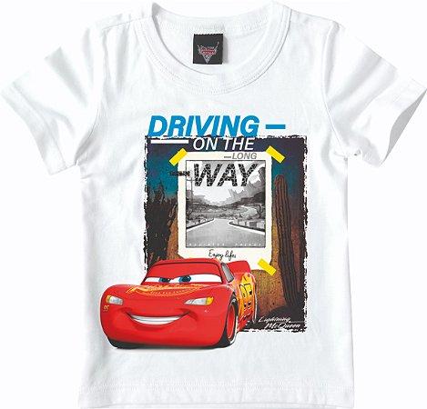 Camiseta Carros - Mcqueen - Branca
