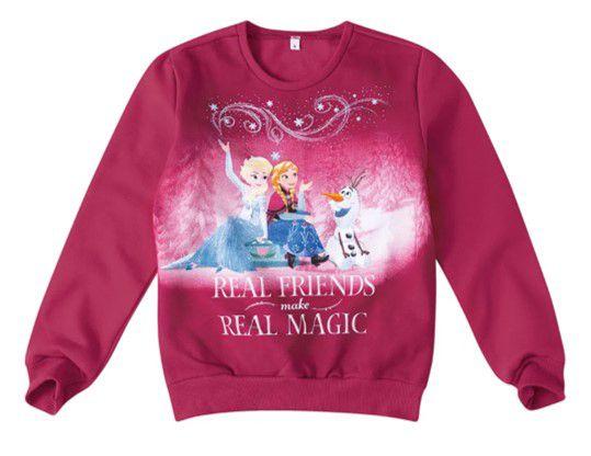 Moletom Disney Frozen Anna e Elsca - Vermelho Bordô - Malwee